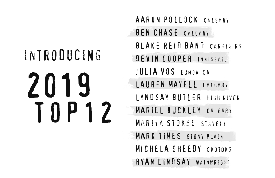 List of names for Top 12 of 2019
